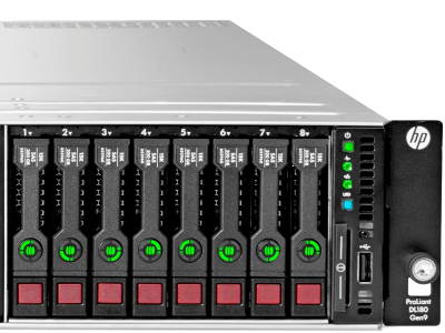 Ein Proliant DL 360 Server unserer Serverfarm.